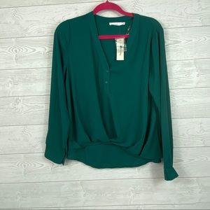 Francescas Lush I Green Button Up